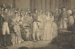 Engraving of Queen Victoria's wedding to Prince Albert, February 10, 1840